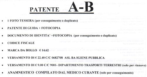 Rinnovo Patente A B
