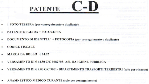 Rinnovo Patente C D
